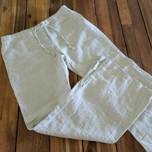 Express Beige Linen Minimalist Pants